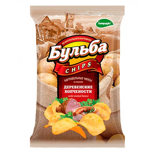"""Чіпси з натуральної картоплі """"Сільські копченості"""" 0,75гр"""