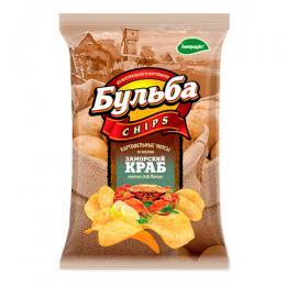 """Чипсы из натурального картофеля """"Заморский краб"""" 0,75гр."""