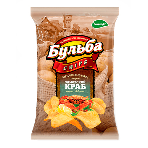 "Чіпси з натуральної картоплі ""Заморський краб"" 0,75гр."