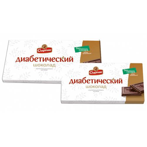 """Шоколад діабетичний """"Спартак"""" гіркий з ізомальтом 90 г"""