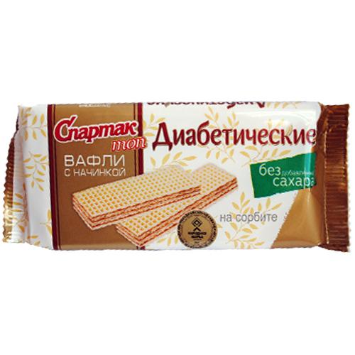 """Вафлі діабетичні """"Спартак"""" топ на сорбіті"""