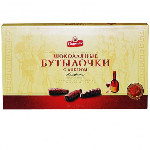 Шоколадные бутылочки с ликёром 168 г