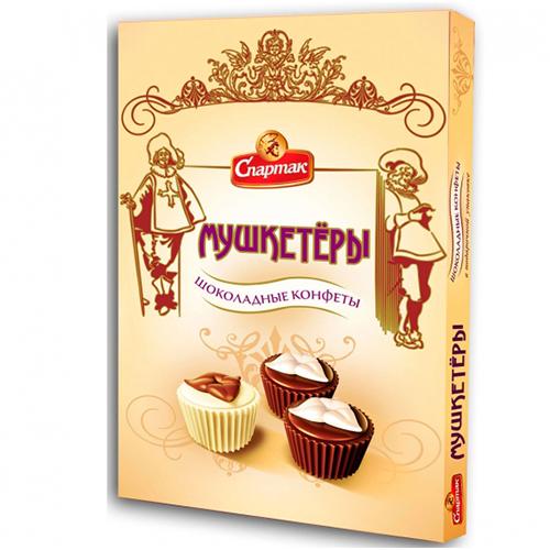 """Коробка конфет """"Мушкетёры"""" 180 г"""