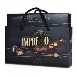 """Подарочный набор шоколадных конфет """"Impresso"""", черный 424 г"""