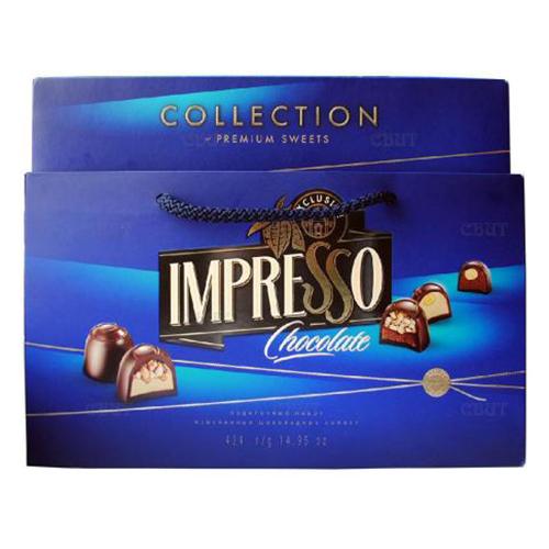 """Подарочный набор шоколадных конфет """"Impresso"""", синий 424 г"""