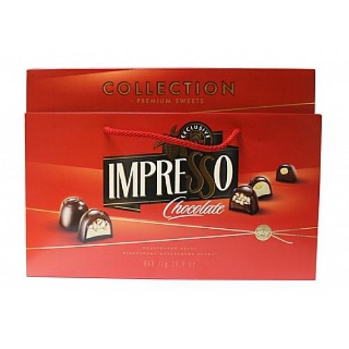 """Подарочный набор шоколадных конфет """"Impresso"""", красный 848 г"""