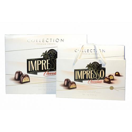 """Подарунковий набір шоколадних цукерок """"Impresso"""", білий 424 г"""