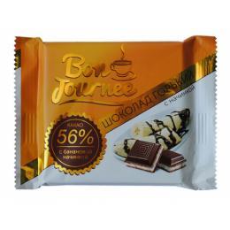 """Шоколад """"Bon Journee"""" гіркий з банановою начинкою 80 г"""
