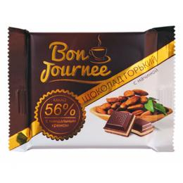 """Шоколад """"Bon Journee"""" гіркий з начинкою мигдальний крем 80 г"""