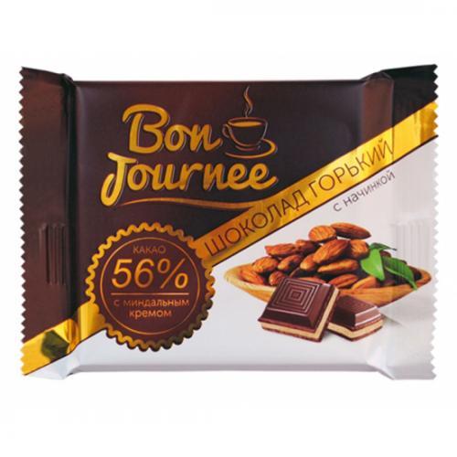 """Шоколад """"Bon Journee"""" горький с начинкой миндальный крем 80 г"""