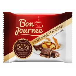 "Шоколад  ""Bon Journee"" горький с начинкой со вкусом яблочного штруделя 80 г"