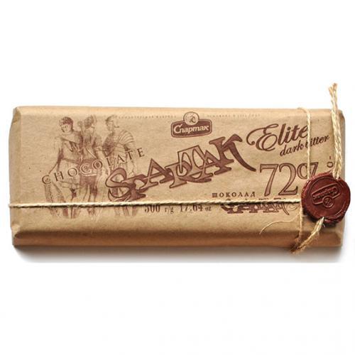 """Шоколад """"ГІРКИЙ - ЕЛІТНИЙ 72%"""" 500 г"""