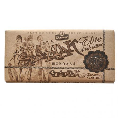 """Шоколад """"ГОРЬКИЙ-ЭЛИТНЫЙ 90%"""" 90 г"""