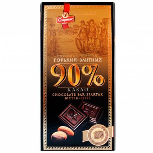 """Шоколад """"ГІРКИЙ-ЕЛІТНИЙ 90%"""" 90 г"""
