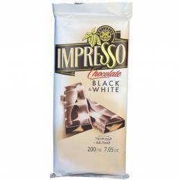 """Шоколад """"Impresso"""" темный и белый 200 г"""