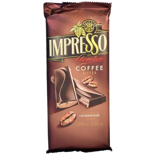 """Шоколад горький """"Impresso"""" с кофейной начинкой 200 г"""