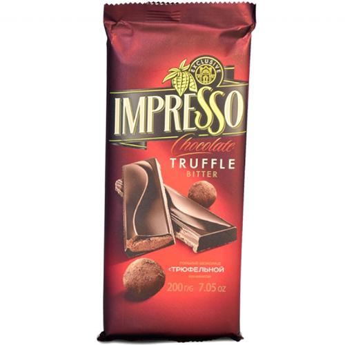 """Шоколад горький """"Impresso"""" с трюфельной начинкой 200 г"""