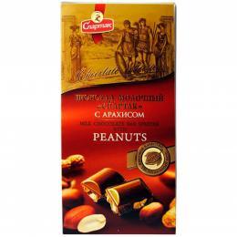 "Шоколад ""МОЛОЧНИЙ З АРАХІСОМ"" 90 г"