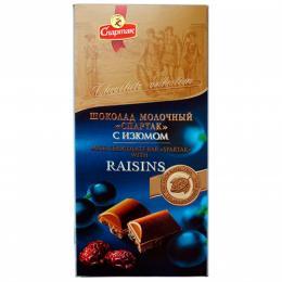 "Шоколад ""МОЛОЧНИЙ З РОДЗИНКАМИ"" 90 г"